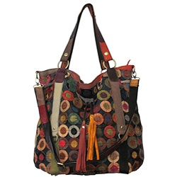 @Overstock.com - This multicolored handbag features an array of color-popping designs that will reflect the kaleidoscope of your spirit. Crafted in top-grain lambskin, this leather tote bag offer luxurious organization.http://www.overstock.com/Clothing-Shoes/Amerileather-Lloyd-Multicolor-Leather-Tote/4796986/product.html?CID=214117 $63.99