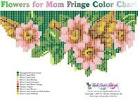 Flowers for Mom Fringe Necklace for Downloadable Pattern or Bead Graph for Beading