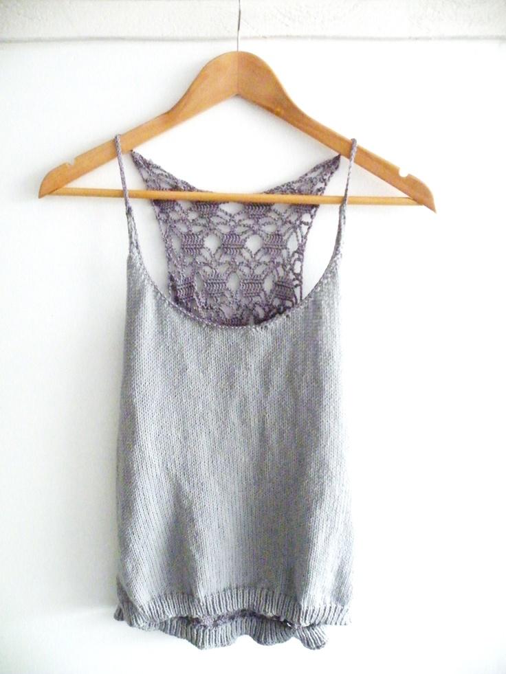 top dos en crochet. knit diy