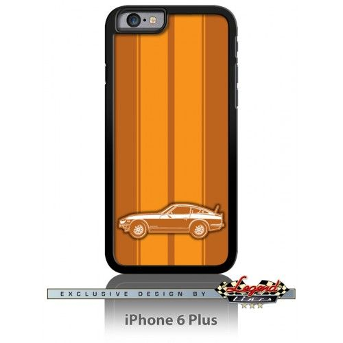 Datsun 240Z 260Z 280Z Coupe Smartphone Case - Racing Stripes    Refined and stylish, this cell phone case is a perfect way to show your passion for a truly legendary car.  Available in Apple iPhone and Samsung Galaxy phones The case is made of Hard Plastic and Printed Aluminum Insert.  Japanese  Japan  Car  Automotive  Classic  Vintage  Muscle  Sport   Tee Shirt  Legend Lines Men  Man  Father  Husband  Dad  Son  Daughter  Grandpa  Friend  Driver  Collector    Racer  Gift  Christmas  Birthday