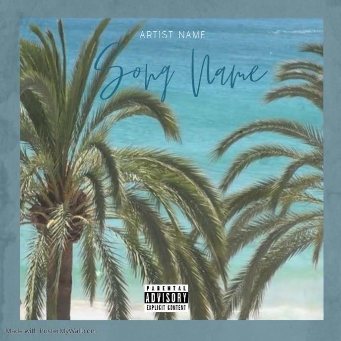 Summer Tropical Music Album Cover Template Album Cover Art Album Covers Music Album Cover