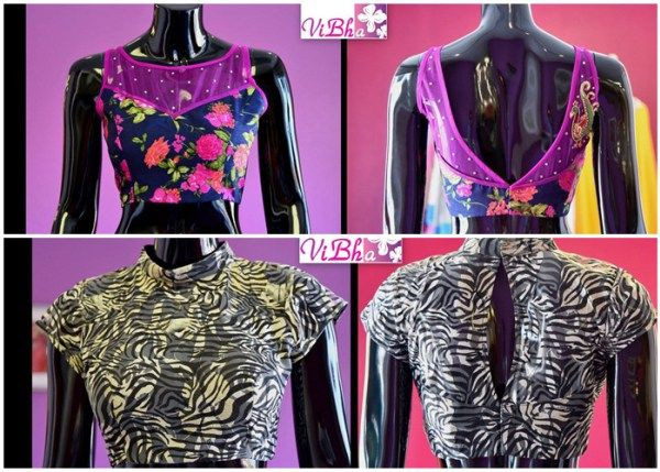 Latest saree blouse designs front and back 2016