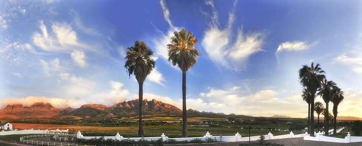 This is my Godparents Wine Farm in Wellington, Western Cape, South Africa.  I would defintely like to be there right now.