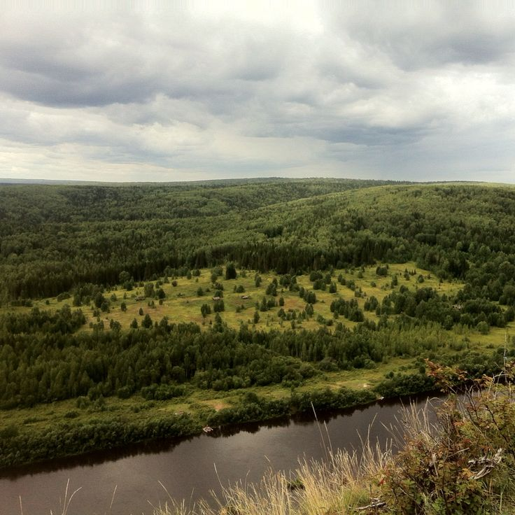Деревня Петруниха. Вид с камня Ветлан. #вишера #ветлан #лес #тайга #красновишерск