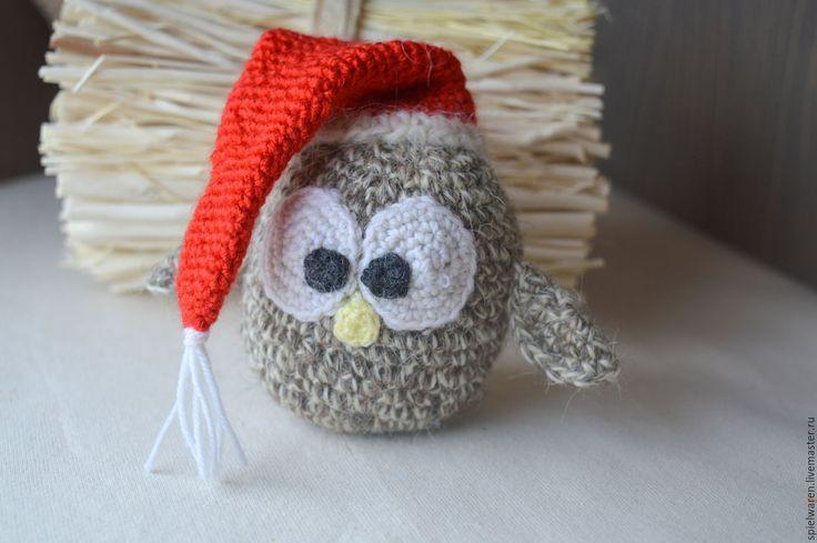 Купить Совушка новогодняя - разноцветный, сова, совушка, сова игрушка, сова в подарок, подарок