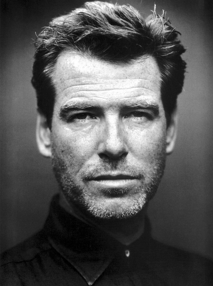 Black and White Photography Portrait of Pierce Brosnan