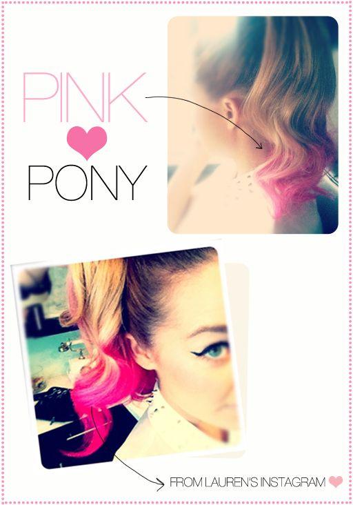 Lauren Conrad's Pink Ponytail via The Beauty Department