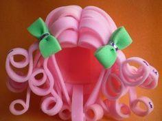 Cómo hacer pelucas de gomaeva - Imagui