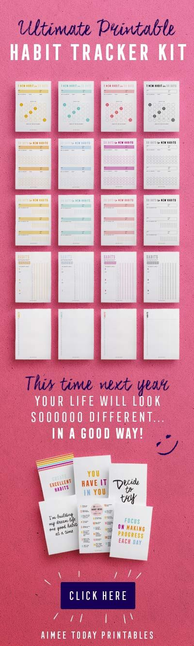Using these printable habit trackers to finish the year strong!