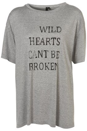 Michelle Keegan's Topshop Boutique Wild Hearts Can't Be Broken Grey T-Shirt.  Great movie too!