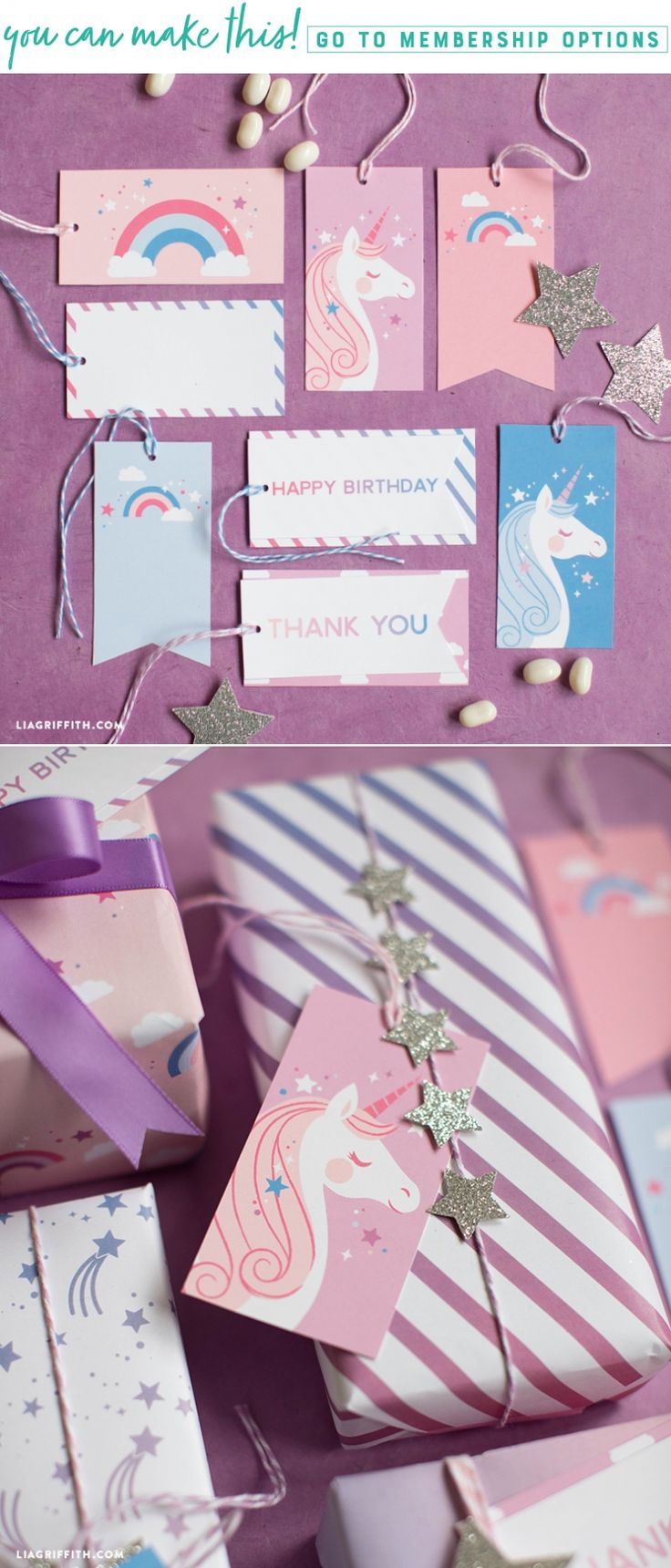 Tags That Dazzle ✨ We've created these printable unicorn gift tags to add some special sparkle to the tops of your gifts. These gift tags pair perfectly with our printable unicorn wrapping paper. Combine the two together for your next celebration and you're sure to have them reaching for your gifts first. https://liagriffith.com/printable-unicorn-gift-tags/ * * * #unicorn #printable #printables #gift #gifts #giftags #unicornpower #unicorns #unicornios #paper #diyparty #papercut #paperlove…