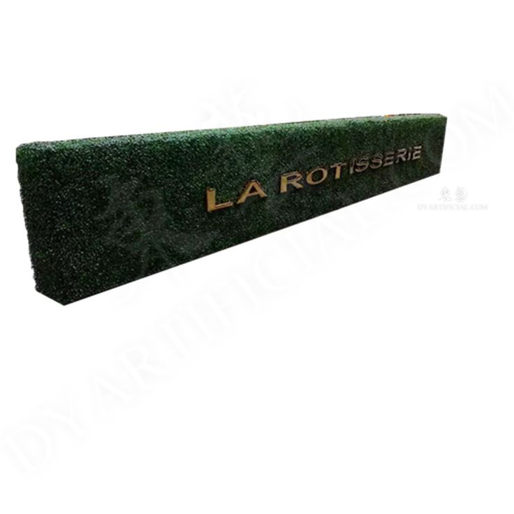 Artificial Boxwood Hedge Wall with Letter Logo