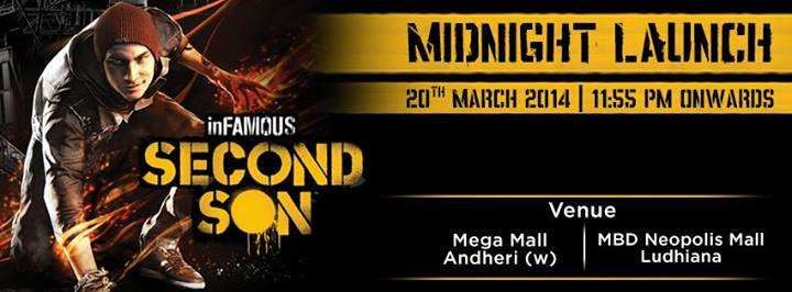 Events in Mumbai - inFAMOUS Second Son Midnight Launch on 20 March 2014 at Game4u, Mega Mall, Andheri. 11.55.pm to 1.30.am
