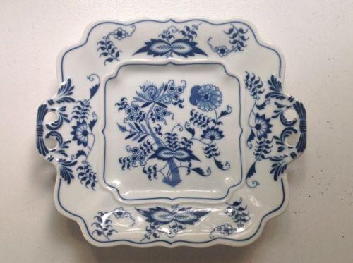 "Blue Danube - Japan (1) Cookie Plate w/handles 10 1/8"" Blue Onion Design"