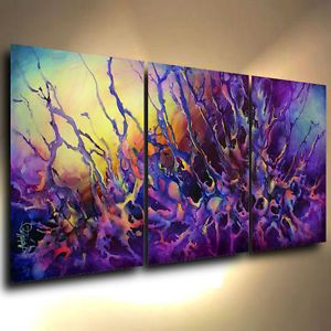 Original Abstract Modern Contemporary Paintings & Art | Painting Modern Art Abstract Contemporary Decor Mix Lang Cert Original ...