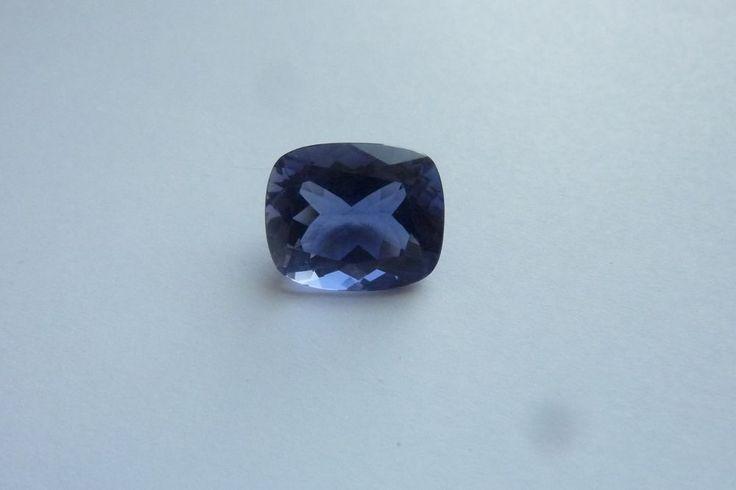 4.58 Cts Cushion Shape Blue Color 100% Natural Iolite Loose Gemstone ~ 12*10 MM #KinuBabaGems