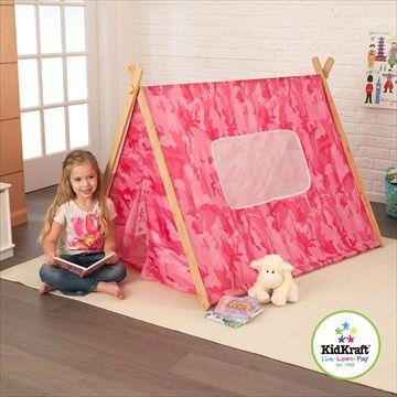 KIDKRAFT Telt 'Camo Tent Pink' Rosa. Med dette solide og tøffe kamuflasjeteltet fra Kidkraft, kan barna late som de er på camping ut i ørkenen uten å gå utendørs! Kr 799