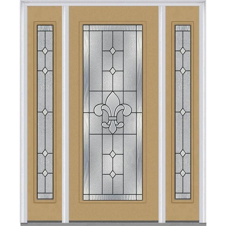 milliken millwork 645 in x 8175 in carrollton decorative glass full lite painted fiberglass