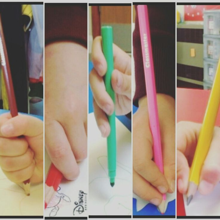 Progression of pencil grips in our 2015 class. Posters available at www.aceearlyyears.com #earlyyears #eyfs #funkyfingers