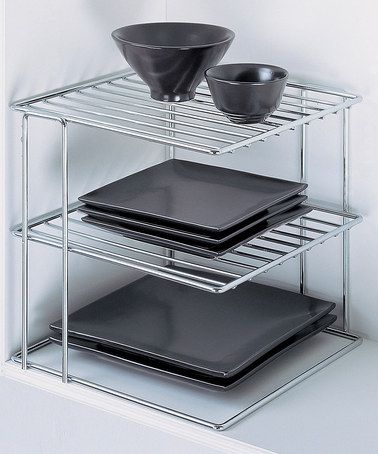 Take a look at this Chrome Three-Tier Corner Shelf by All in Order: Pantry & Fridge on @zulily today!
