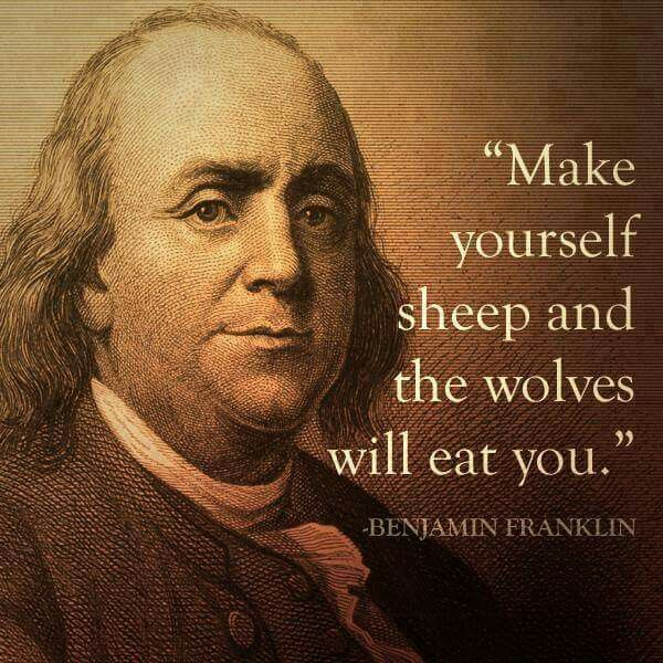 And if people don't wake the hell up, there about to be a whole bunch of people eaten .. Wake up sheep....