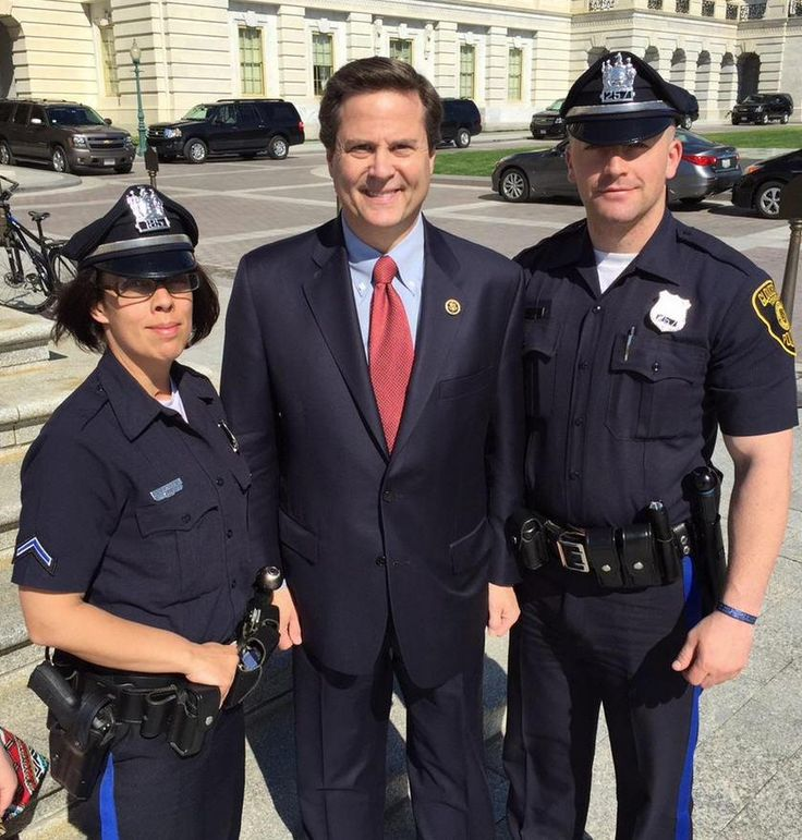 #GTPD Officers Rauscher & Grey visiting with Congressman Norcross at Capitol Building Wash DC. #GloucesterTwp #LESM