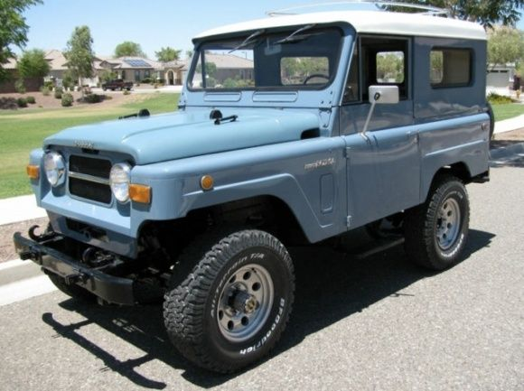 This 1969 Nissan Patrol is one of the cleanest examples we have seen. These are usually tattered and needing everything, and we have featured a couple of high-dollar restored versions, but this clean and un-modified driver level example is the best way to buy one. It has enough scratches that it can be used without worry, and the blue color is one of the best for the model. Find ithere on eBayin Phoenix, Arizona.