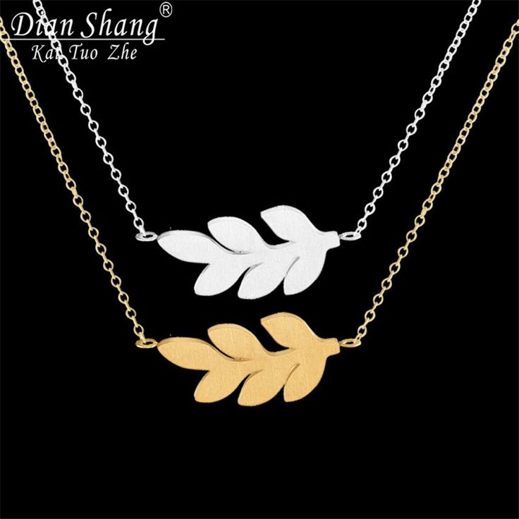 DIANSHANGKAITUOZHE 10pcs Choker Maxi Necklace Trendy Women Stainless Steel Jewelry Unique Tree Branch Leaf Charm Necklace
