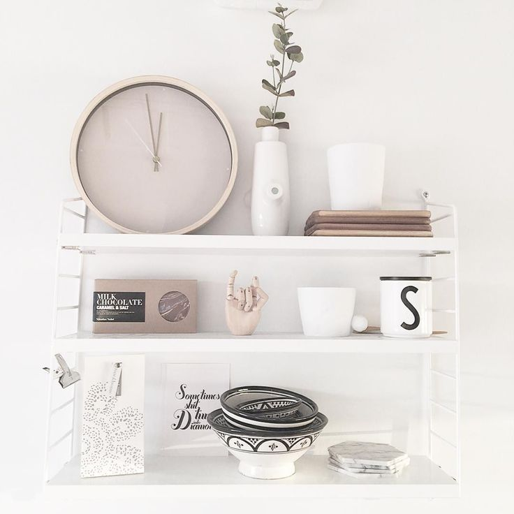 """I love our string pocket shelf in the kitchen. #noebloghome @stringfurniture #stringpocket"""