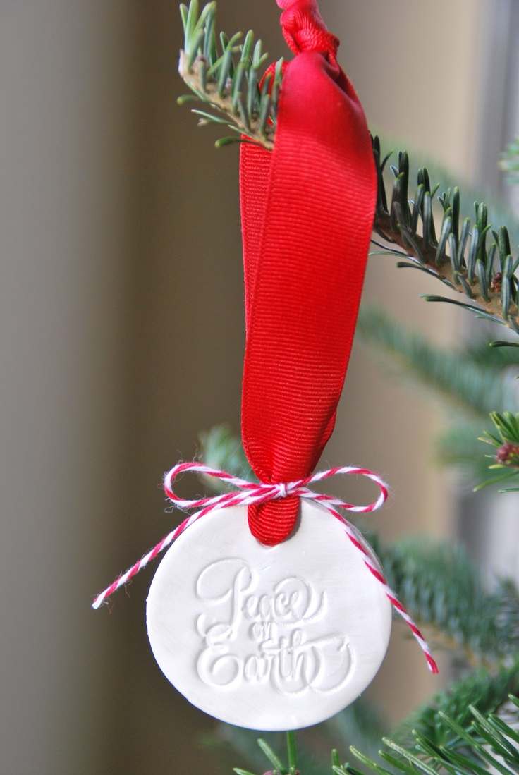 Acrylic clear ornaments - Clay Stamped Christmas Ornament Using Ctmh Clear Acrylic Stamps