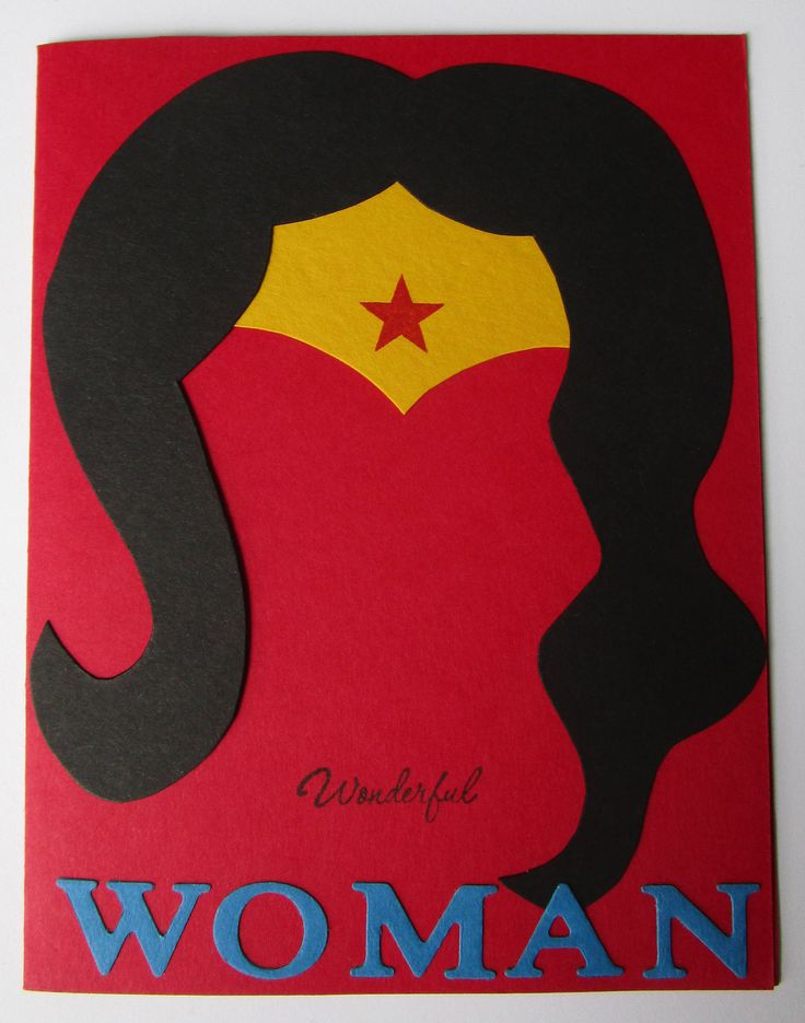 Excited to share the latest addition to my #etsy shop: Wonderful Woman Card http://etsy.me/2EqyuW6 #minimalist #wonderwoman #wonderwomancard #birthdaycard #mothersdaycard #card