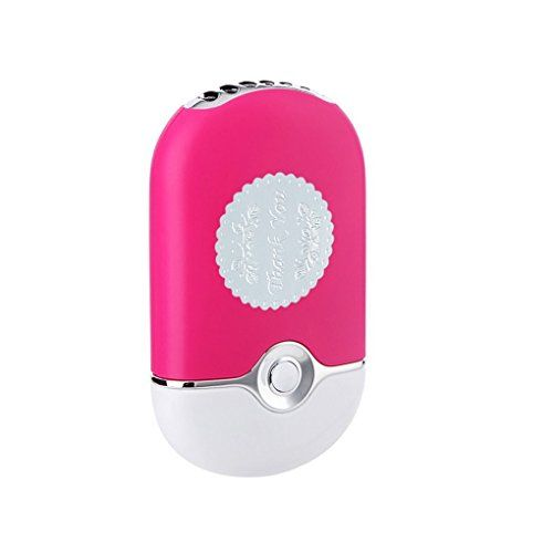 ThreeH+Portable+Mini+Personal+Fan+Handheld+USB+Rechargeable+Bladeless+Air+Conditioner+Mute+Electric+Built-in+Li-ion+Battery+Powered+Desk+Cooling+Fan+H-F015Pink
