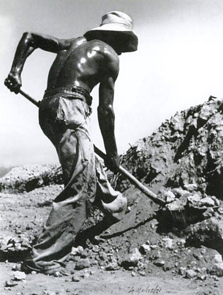 Εργάτης στο Παλαιό Φάληρο, 1956.φωτ.Σπύρος Μελετζής