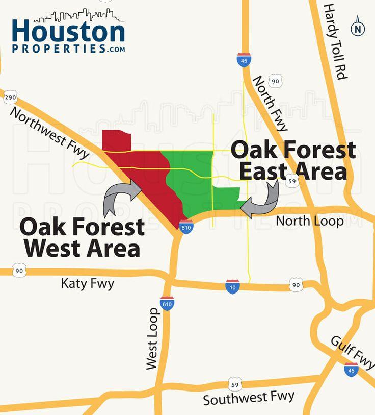 New Oak Forest Houston Neighborhood Map  Great Maps Of