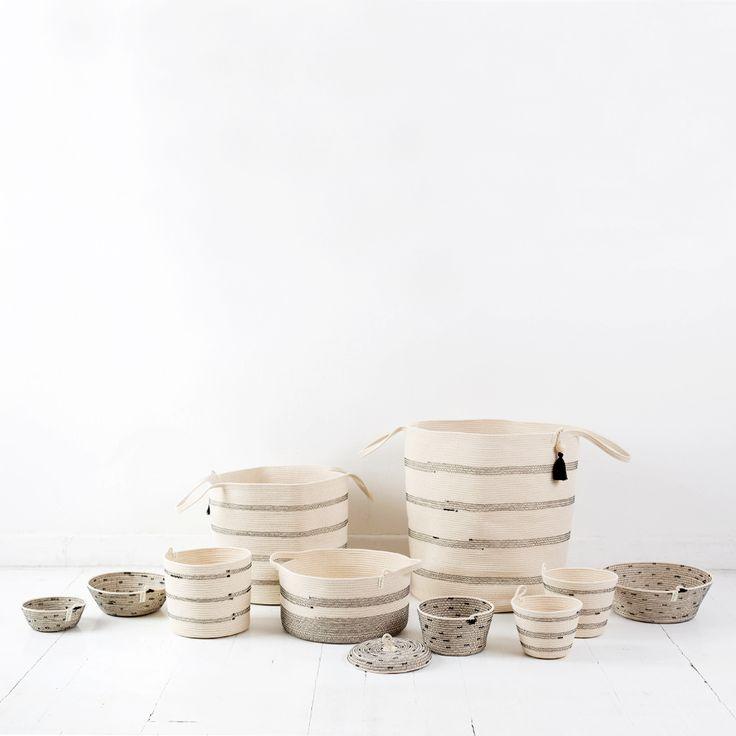 stitched baskets by Mia Mélange