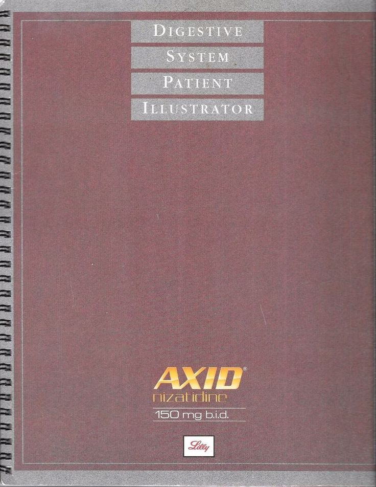 Digestive System Patient Illustrator Pharmaceutical Collectible  AXID Eli Lilly