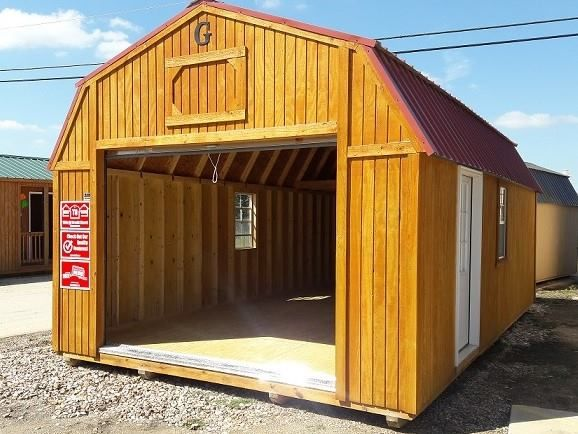 14x24 Lofted Barn Garage Portable Buildings Cabins And Cottages