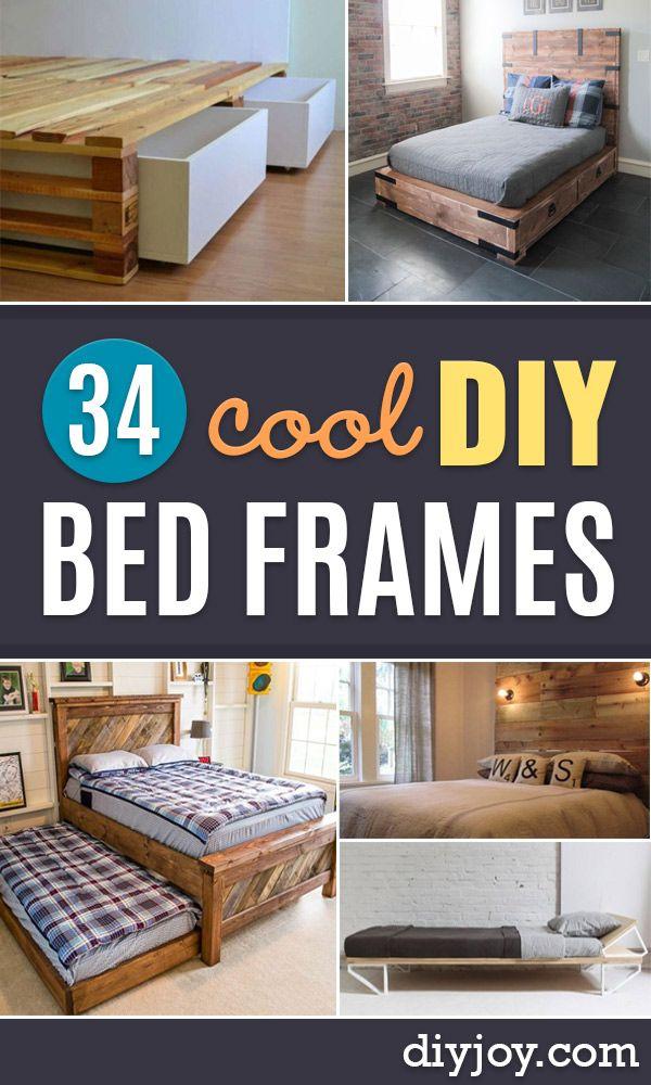 34 Diy Bed Frames To Make For The Bedroom Diy Bed Frame Diy