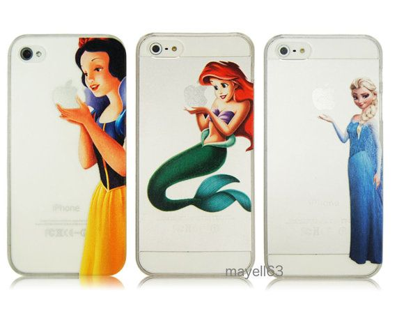 Frozen Elsa Princess Snow White Ariel Mermaid Case For Phone IPhone 4 4S 5 5S 5C-  FREE POSTAGE £4.49