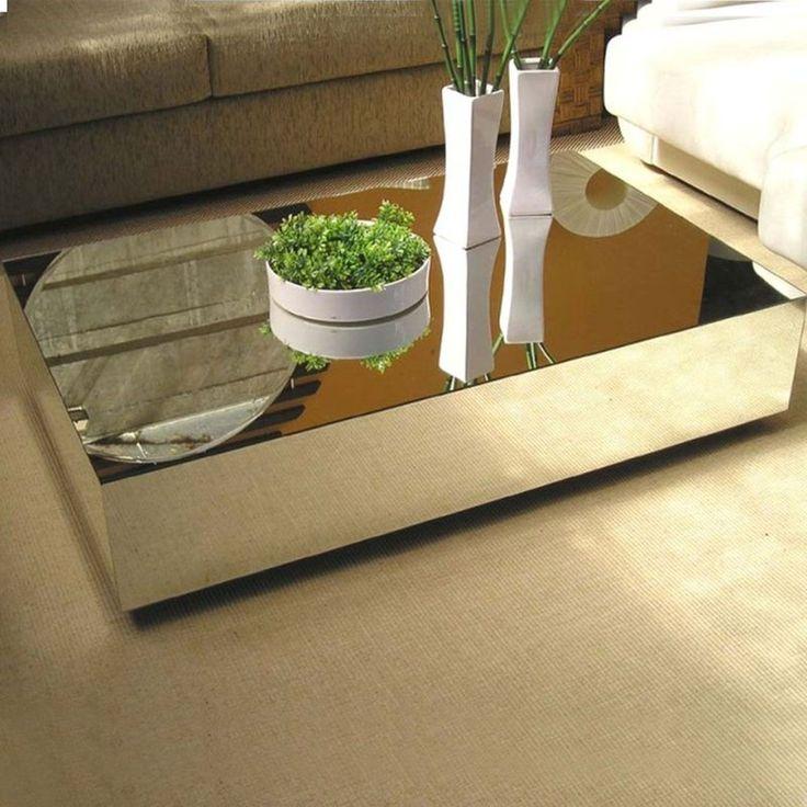 Mesa de centro espelhada decorativa para sala de estar - Amplo Espaço - Especialistas em Móveis Espelhados