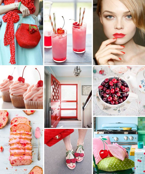 Mood Board Monday: Cherries (http://blog.hgtv.com/design/2014/04/21/mood-board-monday-cherries/?soc=pinterest)Centerpieces Ideas, Hgtv Design, Mood Boards, Boards Mondays, Tables Centerpieces, Méli Mélo, Easter Brunches, Blog Designs, Design Blog