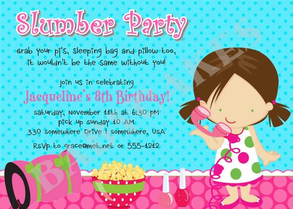 35 best party invitations images – Almost Sleepover Party Invitations