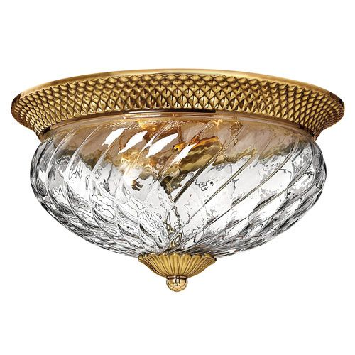 Plantation Burnished Brass Flush Mount Ceiling Light Hinkley Flush Mount Flush & Semi Flu