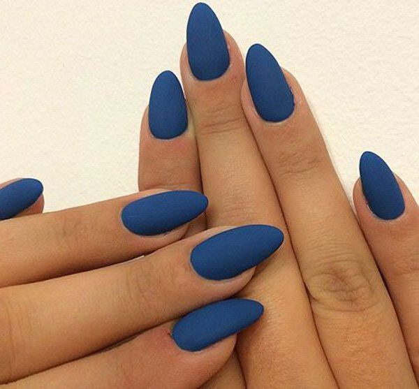 Another simple and yet striking nail design with the coffin nail shape. Again, the shape is the accent so try to go with plain or fewer designs.