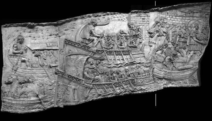 În partea dreaptă a scenei 35 a Columnei este reprezentat Traian încadrat de intrarea arcuită a unei cetăţi amplasată pe malul apei. În condiţiile în care existenţa râului este o certitudine, putem considera cetatea misterioasă reprezentată pe Columna lui Traian ca fiind Tropaeum Traiani, cetate care exista deja la momentul conflictului.