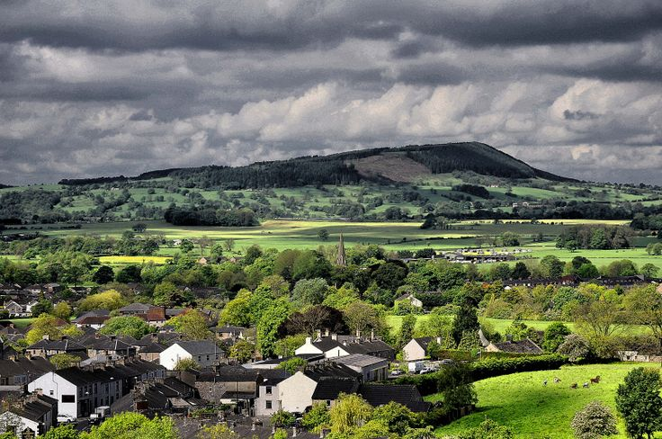 The Ribble Valley from Clitheroe, Lancashire, England.
