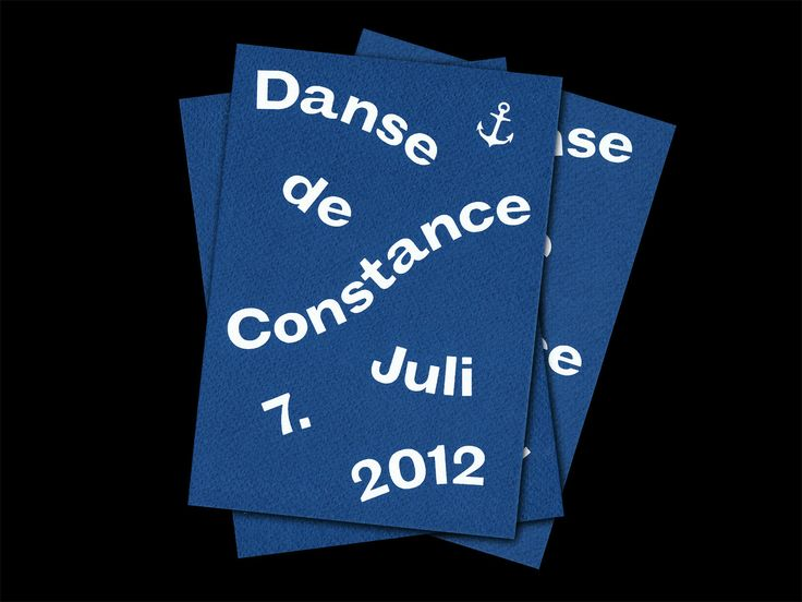 Bureau Collective – Danse de Constance Naming and Communication for an electro party on a boat at the Lake of Constance presented by the label «Echoes» from St.Gallen. Peace and love.