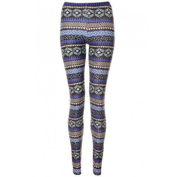 Blue Multicoloured Aztec Print Premium Super Fit Leggings ($13) ❤ liked on Polyvore featuring pants, leggings, jeans, bottoms, calças, multi colored leggings, blue pants, summer leggings, blue leggings and aztec pants
