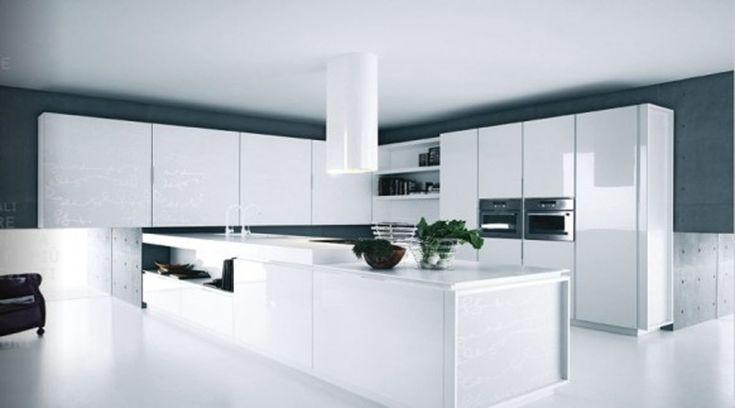 Ejemplos de cocinas elegantes, modernas y minimalistas. Blanco
