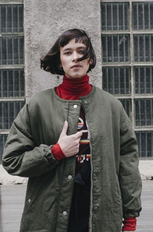 CASEY REVERSIBLE COAT IN KHAKI - Shineshop.no - Luxury Designer Fashion Online